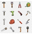 Building set icons vector image