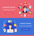 business coaching banners set vector image vector image