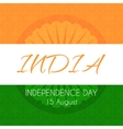 Card for Indian independence day with national vector image