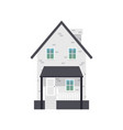 cartoon icon residential suburban house flat vector image vector image