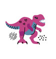 cartoon little dinosaur cute dino color hand vector image vector image