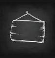 chalk sketch of signboard vector image