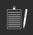 Clipboard pencil icon white