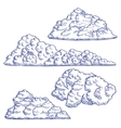 Clouds Hand Draw Sketch vector image vector image