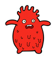 comic cartoon funny slime monster vector image vector image
