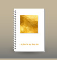 cover of diary or notebook gold triangular vector image vector image