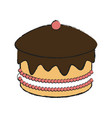 detailed cake icon vector image