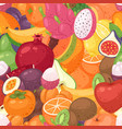 exotic fruit pattern seamless fruity vector image vector image