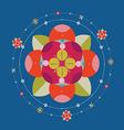 Floral decorative print vector image
