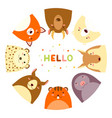 frame with cute funny inquisitive animals vector image vector image