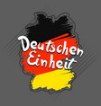 german einheit concept background hand drawn vector image vector image