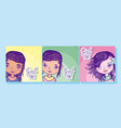 girl power cartoons vector image vector image
