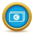 Gold euro buck icon vector image vector image