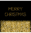 Gold sparkles glitter Merry Christmas text vector image