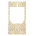 golden frame leaves ornament vector image vector image