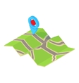 GPS sign on map icon cartoon style vector image vector image