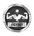 gym and fitness vector image vector image