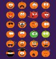 Halloween faces vector image vector image