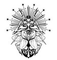 hand drawn beetle with human eye vector image
