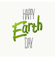Happy Earth Day Typography With green leaf veins vector image