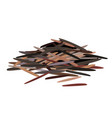 heap black wild rice isolated on white vector image