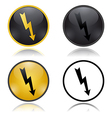 High Voltage warning signs vector image vector image