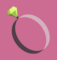 icon in flat design fashion engagement ring vector image