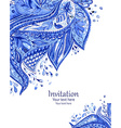 invitation card with fashion beautiful pattern for vector image vector image