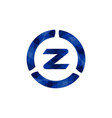 letter z logo inspiration isolated on white vector image vector image