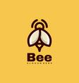 logo bee line art style vector image