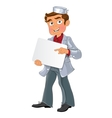 Medical young men with blank area for text or logo vector image vector image
