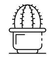 mexican cactus pot icon outline style vector image