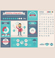 mobility flat design infographic template vector image vector image