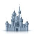 old medieval castle flat cartoon isolated vector image