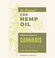 original cbd hemp oil abstract design vector image