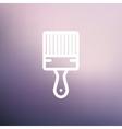 Paintbrush thin line icon vector image