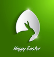 paper easter egg with rabbit silhouette vector image vector image