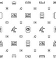 pass icons pattern seamless white background vector image vector image