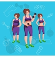 People with different body mass vector image vector image