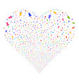 pin fireworks heart vector image vector image