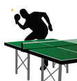 ping pong player silhouette five vector image vector image