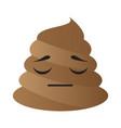poop emoji sleeping vector image
