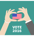 President election day 2016 Voting concept Man vector image vector image