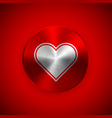 red abstract valentines badge vector image vector image