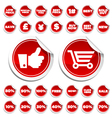 sale and shopping stickers vector image