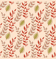 seamless floral pattern with little bright green vector image vector image