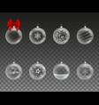 set transparent christmas balls vector image vector image