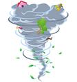 sign of tornado vector image vector image
