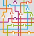Social network internet chat community communicati vector image vector image
