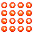 tent forms icons set red vector image vector image
